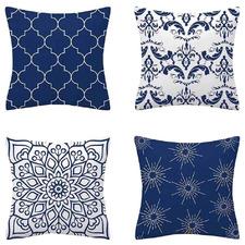 4 Piece Flannel Decorative Cushion Cover Set