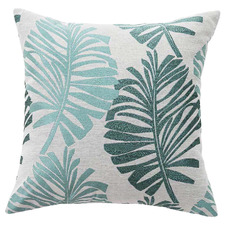 Tropical-Style Cotton-Blend Cushion Cover