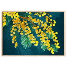 Golden Spirit Yellow Australian Wattle Printed Wall Art