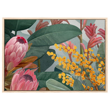 Bundaleer Pink Australian Bush Printed Wall Art