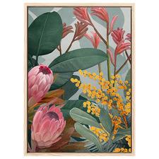Bundaleer II Pink Australian Bush Printed Wall Art