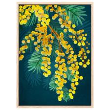Golden Spirit II Yellow Australian Wattle Printed Wall Art