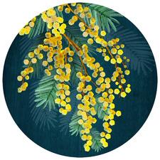 Golden Spirit Australian Native Round Placemat