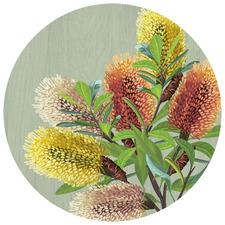 Saltbush Australian Native Round Placemat