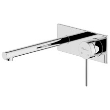 Venice Straight Wall Mixer with Bath Spout