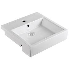 Munich Semi-Recessed Bathroom Basin