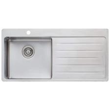 Sonetto Left Hand Single Topmount Kitchen Sink with Drainboard