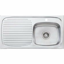Ultraform Right Hand Single Kitchen Sink with Drainboard