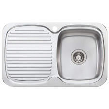 Lakeland Right Hand Single Kitchen Sink with Drainboard