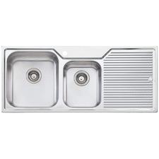 Nu-Petite Left Hand 1.75 Topmount  Kitchen Sink with Drainboard