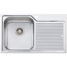 Nu-Petite Left Hand Single Topmount Kitchen Sink with Drainboard