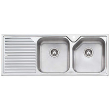Nu-Petite Right Hand Double Topmount Kitchen Sink with Drainboard