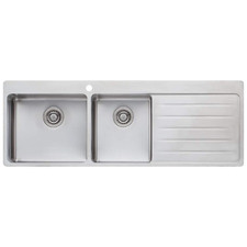 Sonetto Left Hand 1.75 Topmount Kitchen Sink with Drainboard
