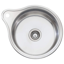 Solitaire Round Kitchen Sink with Tap Landing
