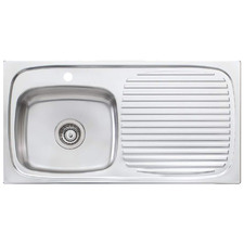 Ultraform Left Hand Single Kitchen Sink with Drainboard