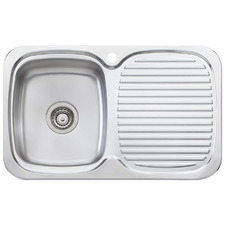 Lakeland Left Hand Single Kitchen Sink with Drainboard