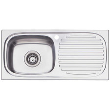 Martini Left Hand Single Kitchen Sink with Drainboard