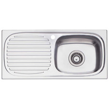 Martini Right Hand Single Kitchen Sink with Drainboard