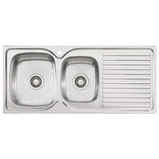 Endeavour Left Hand 1.75 Kitchen Sink with Drainboard