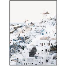Santorini Portrait Printed Wall Art