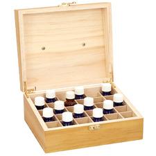 Pine Wood 30 Slot Essential Oil Storage Box