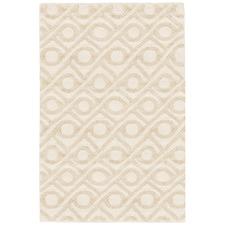 Cream Shapes Wool-Blend Rug