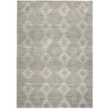 Pewter Honeycomb Weave Wool-Blend Rug