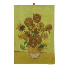 Yellow Van Gogh Sunflower Cotton Teatowel
