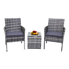 2 Seater Wynford PE Wicker Outdoor Bistro Set