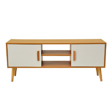 White & Natural Astwick Entertainment Unit