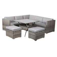 7 Seater Grey Shepard Outdoor Dining Table & Chair Set