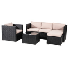 5 Seater Shepard Outdoor Lounge & Coffee Table Set