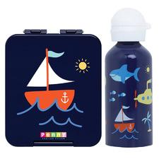 Penny Scallan 2 Piece Anchors Away Mini Bento Box & Bottle Set