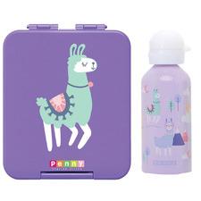 Penny Scallan 2 Piece Loopy Llama Mini Bento Box & Bottle Set