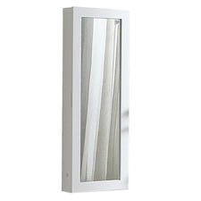 Cyan Wall Mounted Ironing Board Cabinet with Mirror