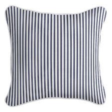 Ticking Stripe Square Linen-Blend Cushion Cover
