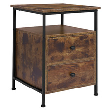 Priam Bedside Table with 2 Drawers & Open Shelf