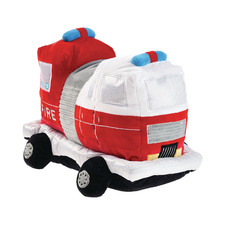 Red Frankie Fire Truck Plush Toy