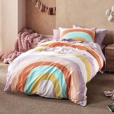 Let the Good Times Roll Lilac Cotton Quilt Cover Set