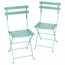 Luxembourg Outdoor Folding Bistro Chairs (Set of 2)