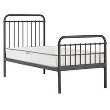 Graphite Loft Metal Bed