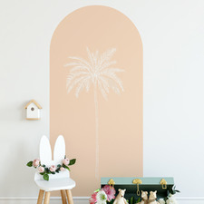 Coral Paradise Palm Reusable Archway Decal