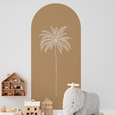 Rust Paradise Palm Reusable Archway Decal