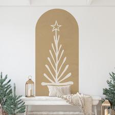 Christmas Fir Tree Reusable Decal Archway