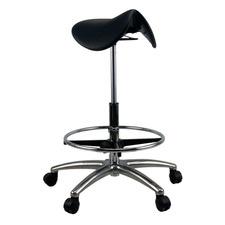 Mueller Saddle Chrome Base Drafting Chair
