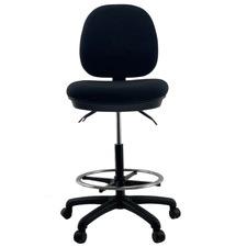 Charles Handwheel Footrest Medium Back Drafting Chair