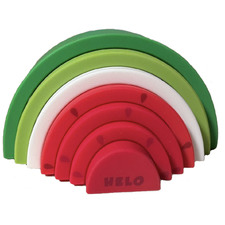 7 Piece Watermelon Silicone Stacking Teether Set