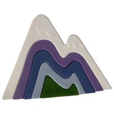 5 Piece White Mountain Silicone Stacking Teether Set