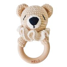 Little Bear Crochet Rattle Teether