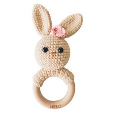 Pink Bunny Crochet Rattle Teether